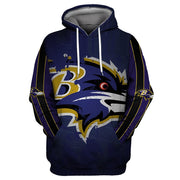 Baltimore Ravens 3D Printed Hooded Pocket Pullover Hoodie - diNeiLa