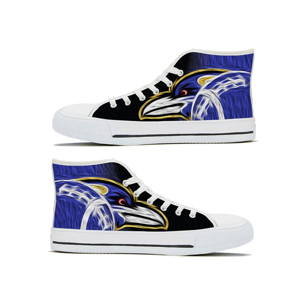Baltimore Ravens High Top Shoes - diNeiLa