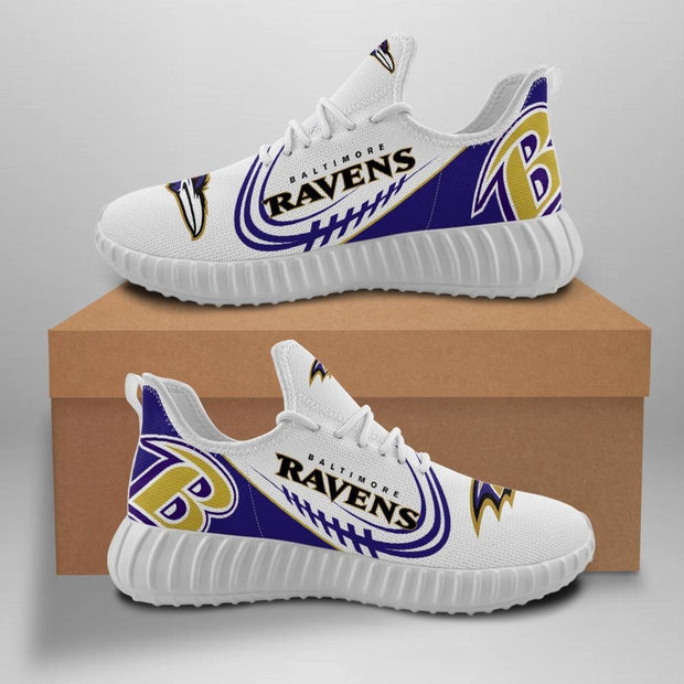 Baltimore Ravens Sneakers Big Logo Yeezy Shoes - diNeiLa