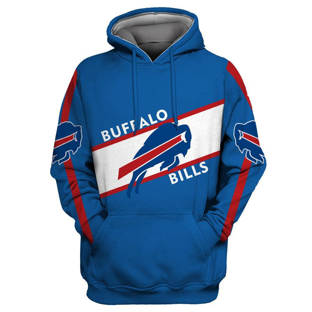 Buffalo Bills 3D Printed Hooded Pocket Pullover Hoodie - diNeiLa
