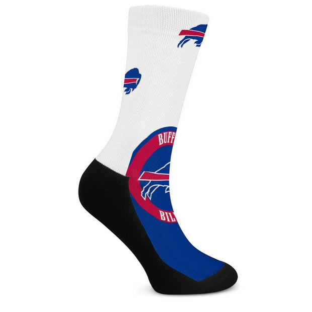 Buffalo Bills For Bare Feet Crew Socks - diNeiLa