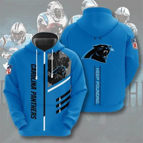 Carolina Panthers 3D Printed Hooded Pocket Pullover Hoodie - diNeiLa