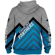 Carolina Panthers 3D Printed Zipper Hoodie - diNeiLa