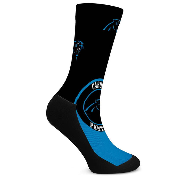 Carolina Panthers For Bare Feet Crew Socks - diNeiLa