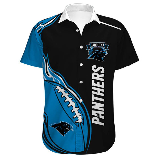 Carolina Panthers Hawaiian Shirt Slim Fit Body - diNeiLa