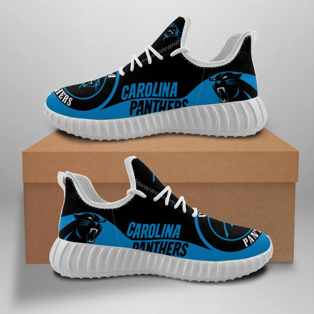 Carolina Panthers Sneakers Big Logo Yeezy Shoes - diNeiLa