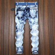 Casual Patch Vintage Ripped Jeans - Douin