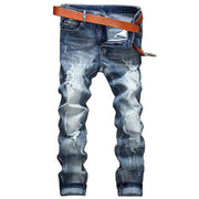 Casual Slim Fit Ripped Jeans - Douin