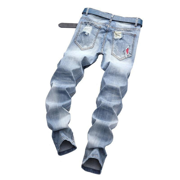 Casual Straight Ripped Jeans - Douin