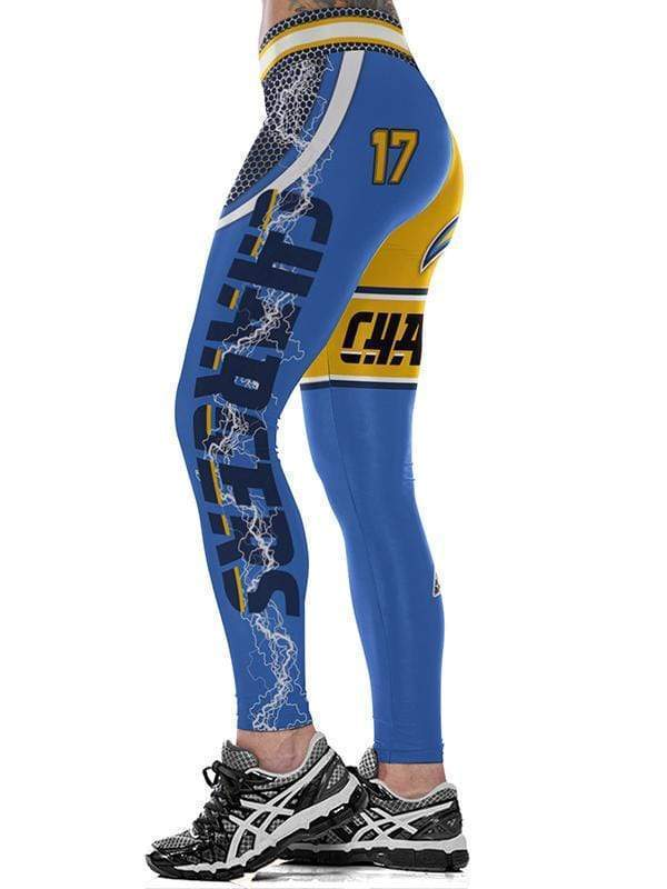 CHARGERS 3D Printed High Waist Sexy Yoga Leggings - diNeiLa
