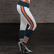 Chicago Bears Football Fitness Sports Printed Stitching Yoga Pants - diNeiLa