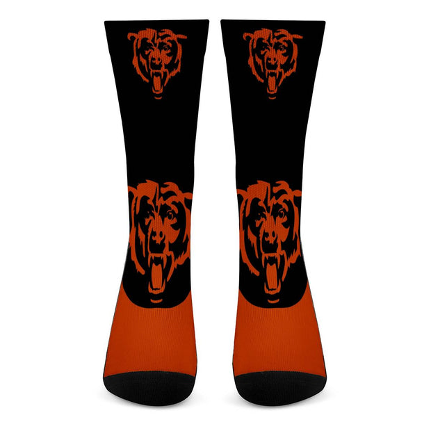 Chicago Bears For Bare Feet Crew Socks - diNeiLa
