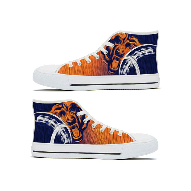 Chicago Bears High Top Shoes For Men Women - diNeiLa