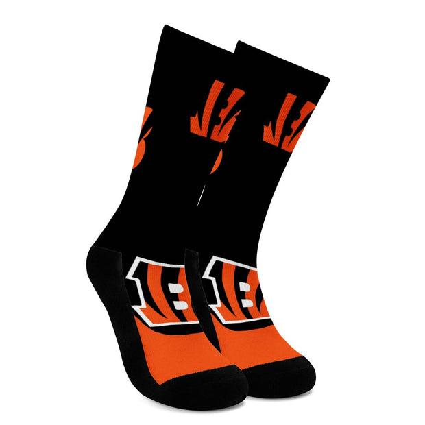 Cincinnati Bengals For Bare Feet Crew Socks - diNeiLa