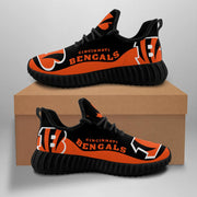 Cincinnati Bengals Sneakers Big Logo Yeezy Shoes - diNeiLa
