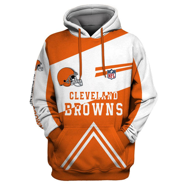 Cleveland Browns 3D Printed Hooded Pocket Pullover Hoodie - diNeiLa