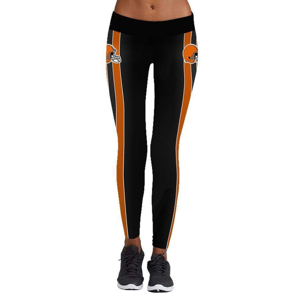 Cleveland Browns Printed Yoga Fitness Leggings - diNeiLa