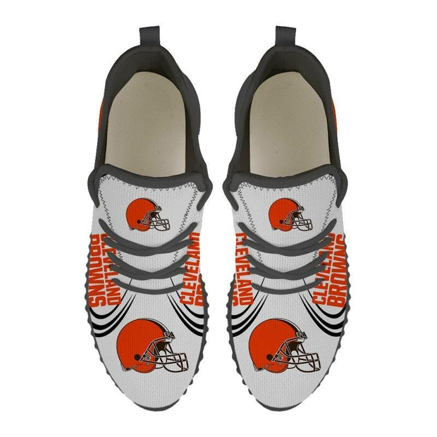 Cleveland Browns Sneakers Big Logo Yeezy Shoes - diNeiLa