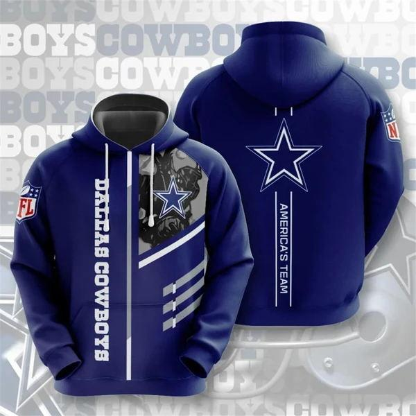 Dallas Cowboys 3D Printed Hooded Pocket Pullover Hoodie - diNeiLa