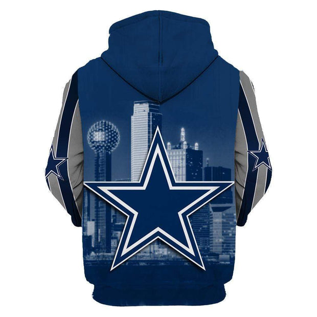 Dallas Cowboys 3D Printed Hooded Pocket Pullover Sweater - diNeiLa