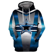 Dallas Cowboys Cool Printed Hooded Pocket Pullover Sweater - diNeiLa