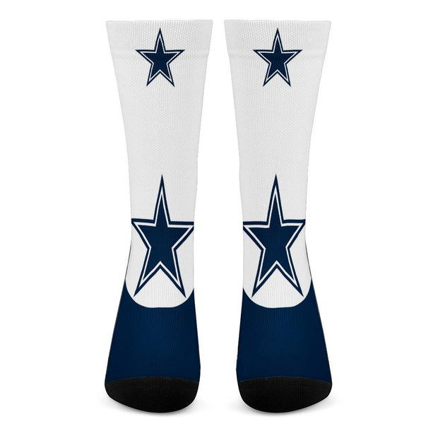 Dallas Cowboys For Bare Feet Crew Socks - diNeiLa