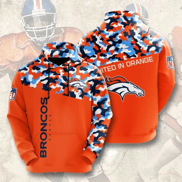 Denver Broncos 3D Printed Hooded Pocket Pullover Hoodie - diNeiLa