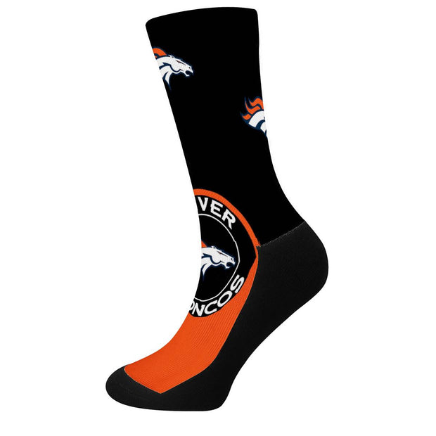 Denver Broncos For Bare Feet Crew Socks - diNeiLa