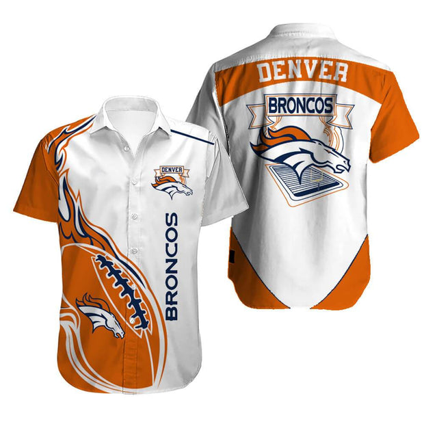 Denver Broncos Hawaiian Shirt Slim Fit Body - diNeiLa