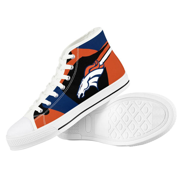 Denver Broncos High Top Shoes - diNeiLa