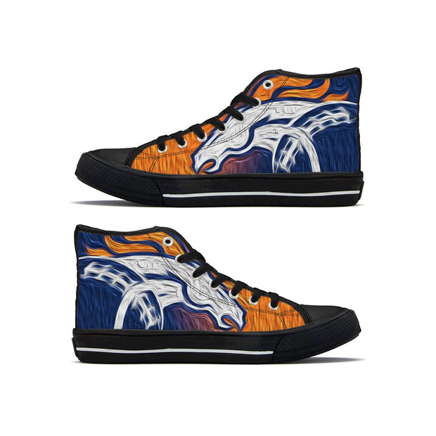 Denver Broncos High Top Shoes For Men Women - diNeiLa