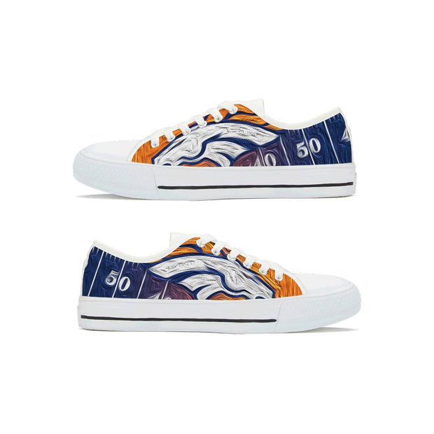Denver Broncos Low Top Shoes For Men Women - diNeiLa