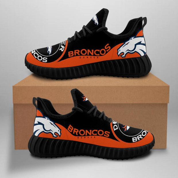 Denver Broncos Sneakers Big Logo Yeezy Shoes - diNeiLa