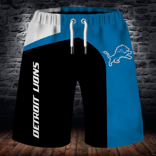 Detroit Lions Summer Beach Shorts - diNeiLa