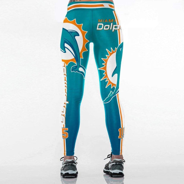 DOLPHINS Printed Sports Leggings - diNeiLa