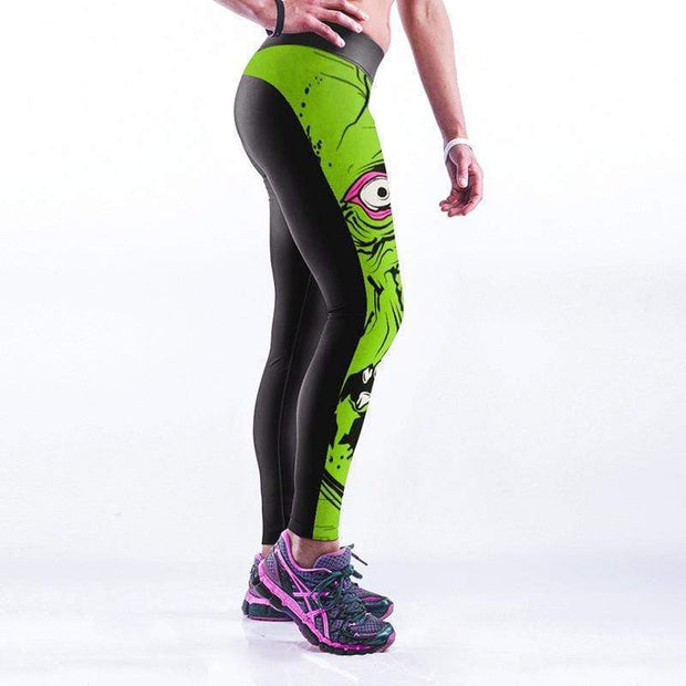 Fashion Digital 3D Printing High Waist Sexy Yoga Pants - diNeiLa