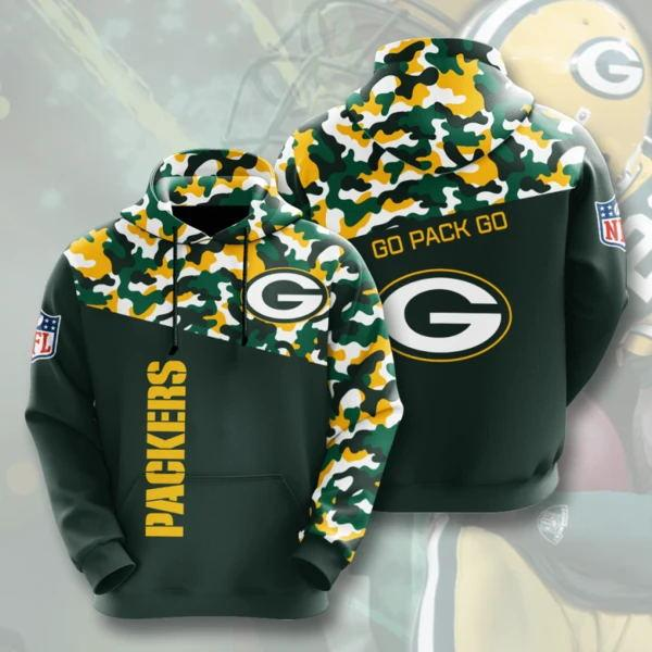 Green Bay Packers 3D Printed Hooded Pocket Pullover Hoodie - diNeiLa