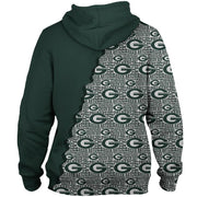 Green Bay Packers 3D Printed Zipper Hoodie - diNeiLa