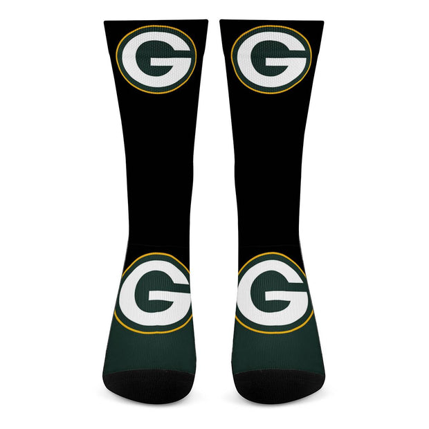 Green Bay Packers For Bare Feet Crew Socks - diNeiLa