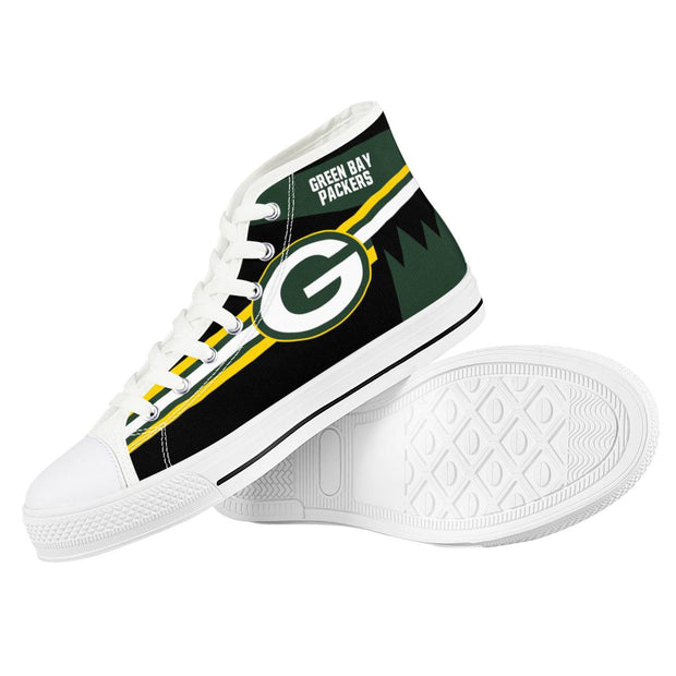 Green Bay Packers High Top Shoes - diNeiLa