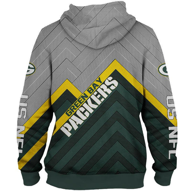 Green Bay Packers Hoodie 3D Sweatshirt Pullover - diNeiLa