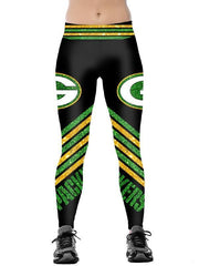 Green Bay Packers Printed Yoga Fitness Leggings - diNeiLa