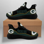 Green Bay Packers Sneakers Big Logo Yeezy Shoes For Men Women - diNeiLa
