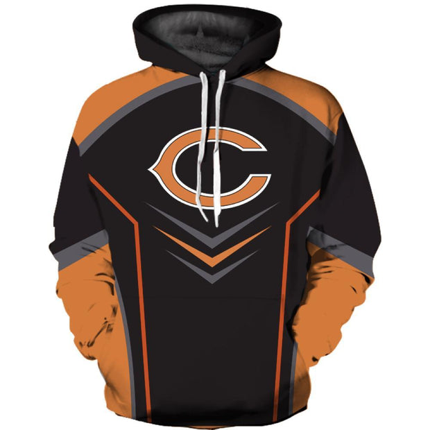 Hot Chicago Bears 3D Printed Hooded Pocket Pullover Hoodie - diNeiLa