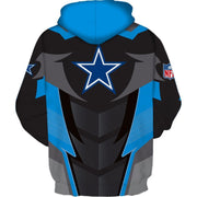 Hot Dallas Cowboys 3D Printed Hooded Pocket Pullover Hoodie - diNeiLa