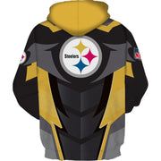 Hot Pittsburgh Steelers 3D Printed Hooded Pocket Pullover Hoodie - diNeiLa