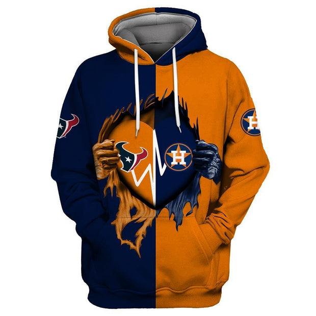 Houston Texans 3D Printed Hooded Pocket Pullover Hoodie - diNeiLa