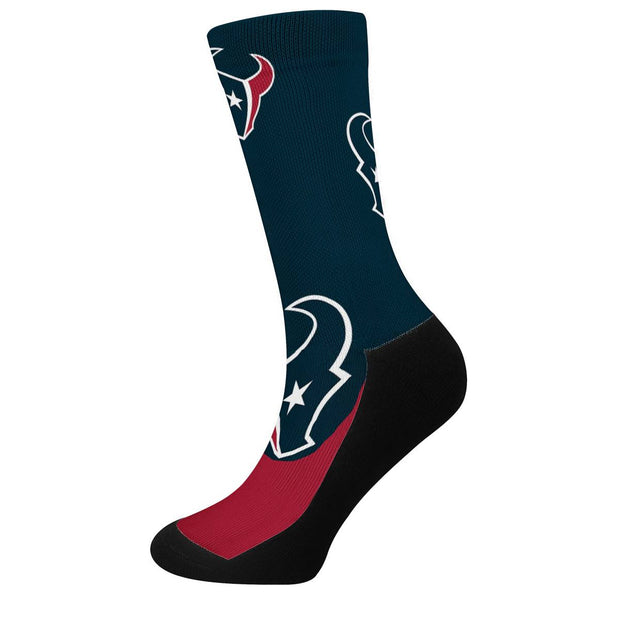 Houston Texans For Bare Feet Crew Socks - diNeiLa