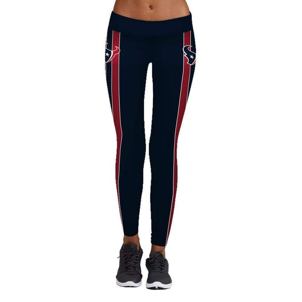 Houston Texans Printed Yoga Fitness Leggings - diNeiLa
