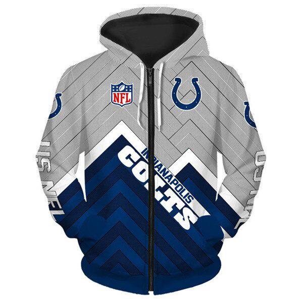 Indianapolis Colts 3D Printed Zipper Hoodie - diNeiLa